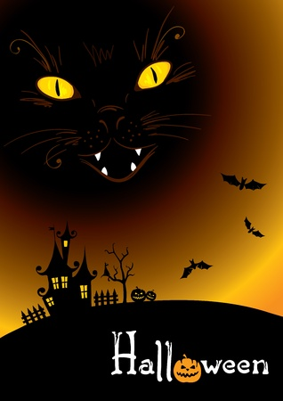 dangle: Background -- black cat