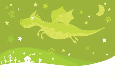 Winter dragon  Stock Vector - 10825727