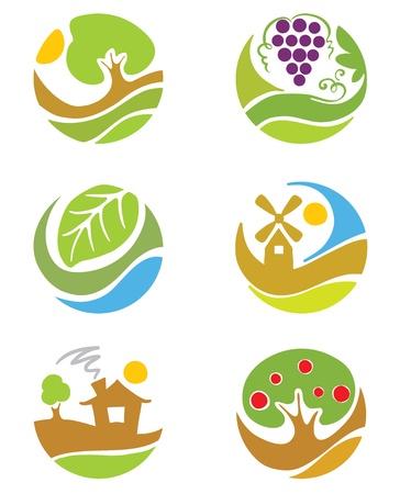 """De logo's over het thema """"landbouw"""" Logo"""