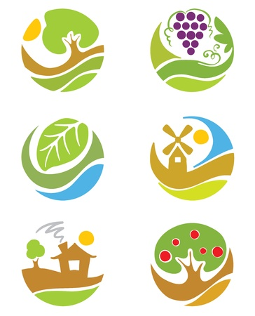 abstract mill: The logos on the theme agriculture