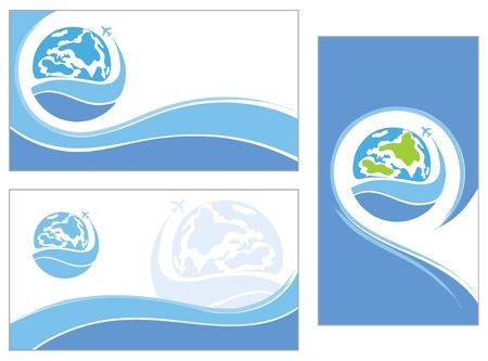 mapa conceptual: tarjeta de visita Vectores