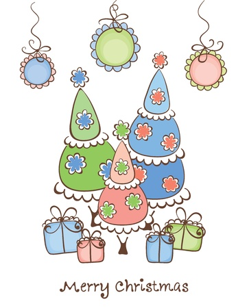 The funny Christmas composition  Stock Vector - 11151300