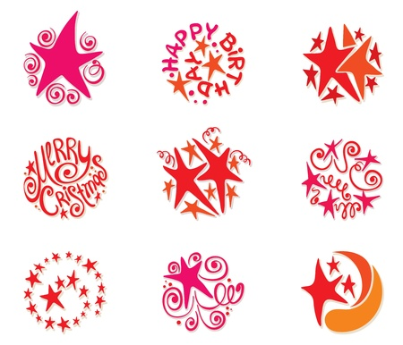 star logo: A collection of festive stars  Illustration