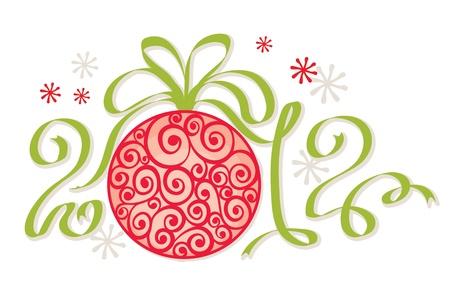 Christmas decoration - 2012 Stock Vector - 11271117