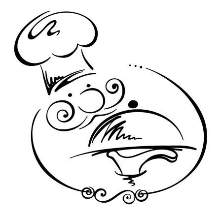 cuisine: Une image abstraite - Chef Illustration