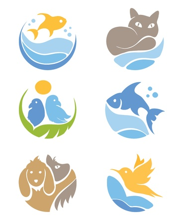 A set of icons - Pets  Illustration