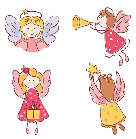 A collection of angels  Vector