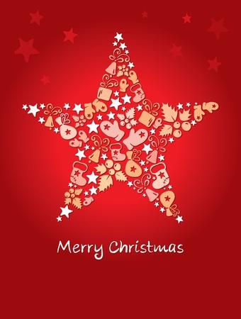 Background -- Christmas star Stock Vector - 11463900