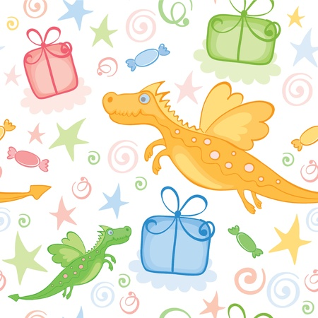 Funny wrapping with Dragon  Stock Vector - 11463901