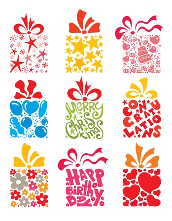 Collection of gifts  Vector