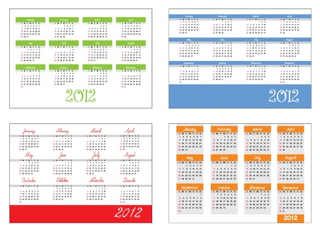 Set - The calendar grid  Vector