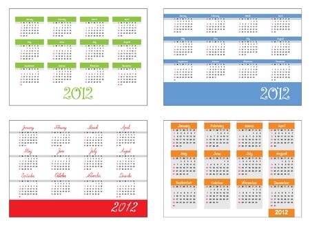 Set - The calendar grid Stock Vector - 11463910