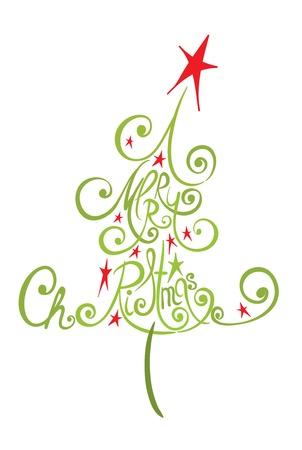 xmas decoration: Abstract Christmas tree