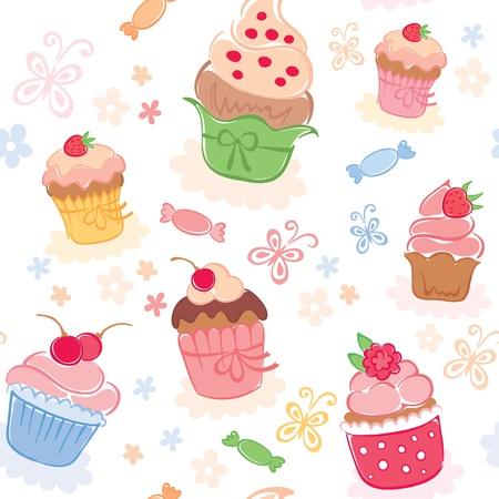 застекленный: Упаковка - прекрасные торты Иллюстрация