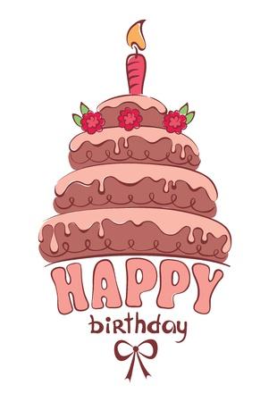 チョコレート ケーキ - カード  イラスト・ベクター素材