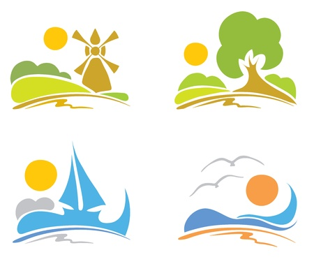 Signs - summer, sea, nature Stock Vector - 11844027