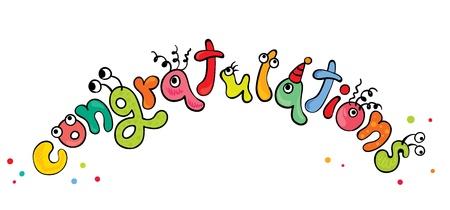 felicitaciones: Felicidades - monstruos