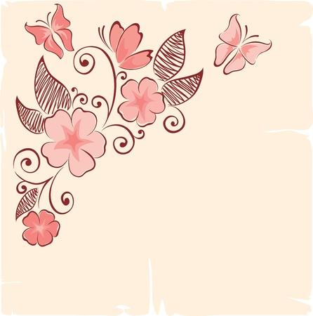 flowering: Flower background