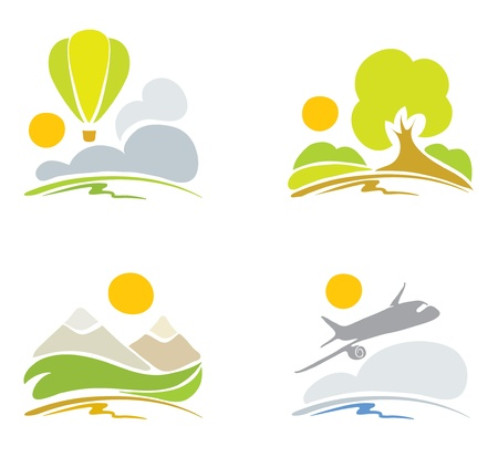 Collection signs -- nature & sky  Vector