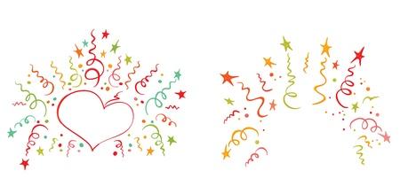 serpentinas: Un conjunto de saludo alegre