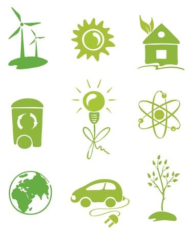 recycle logo: Green Energy  Illustration