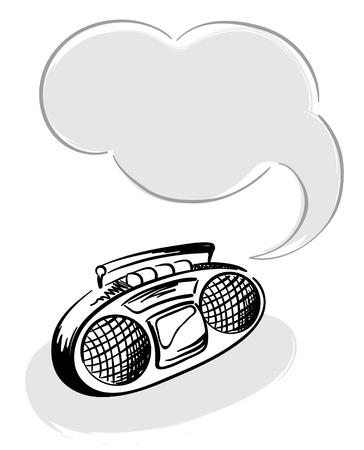 boom box: Tape recorder
