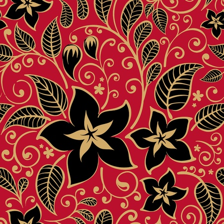 Floral background  Ilustracja