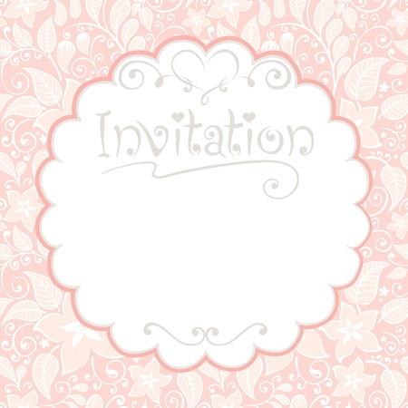 Floral card -- invitations   イラスト・ベクター素材