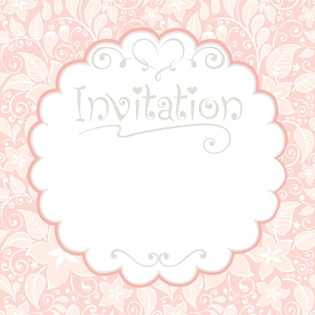 Floral card -- invitations  Stock Illustratie