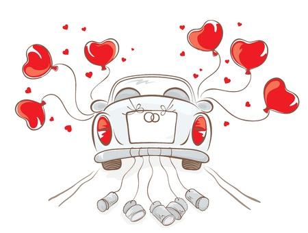 bröllop: Bröllop bil