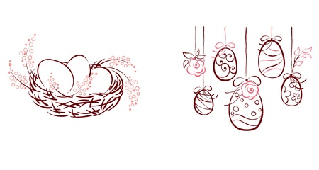 Symbols of Easter  Vector