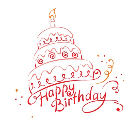 velas de cumpleaños: Pastel ans Feliz cumpleaños