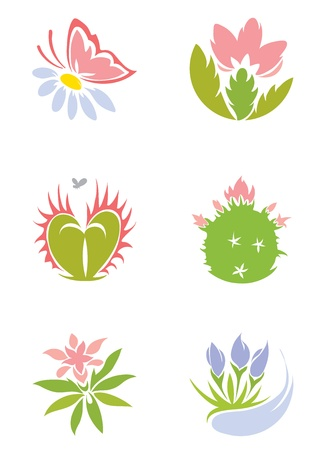 carnivorous: Set -- flowers  Illustration