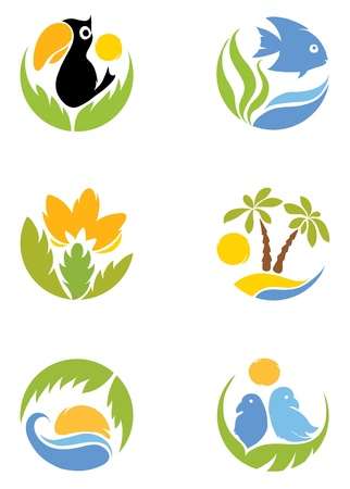 Set - Tropics Stock Illustratie