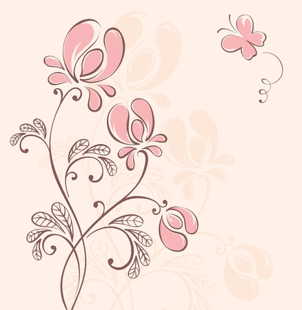 Abstract flower background Stock Vector - 13239738