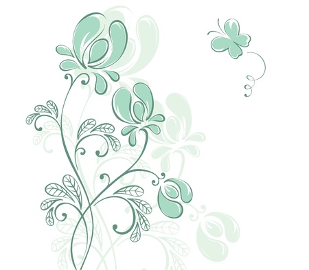 Abstract flowers  Stock Vector - 13331707