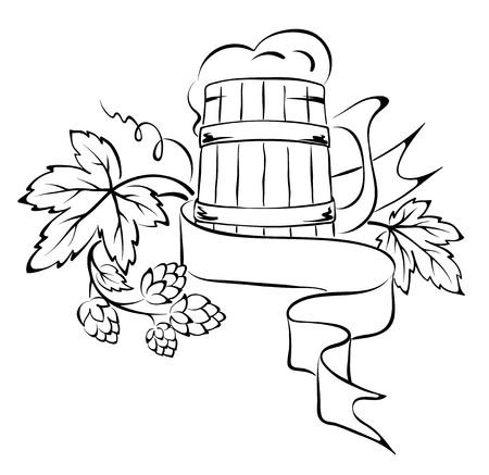 hop plant: Design element - the beer