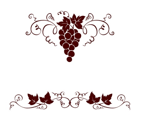 vine leaf: Set design elements -- grape