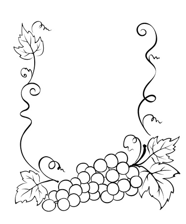 tendril: Frame with grape