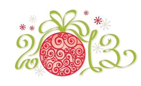 Christmas decoration - 2013   イラスト・ベクター素材