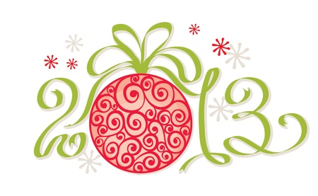 Christmas decoration - 2013 Stock Vector - 16068351