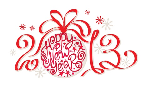 Decoration - Happy New Year 2013 Stock Vector - 16068375