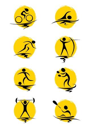 swim race: Ilustraci�n abstracta - deportes de verano