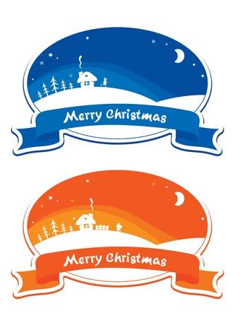 Christmas labels - set  Illustration