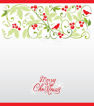 bullfinch: Christmas background