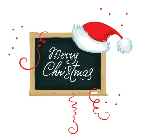 Board of congratulation with Christmas  Vector