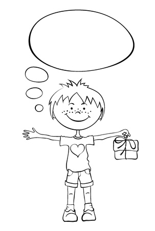 A boy with a gift Stock Vector - 18421675