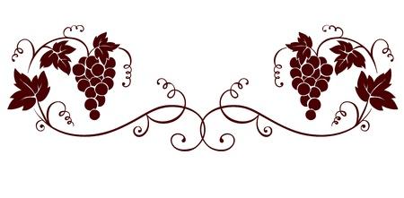 Elemento di design - uva
