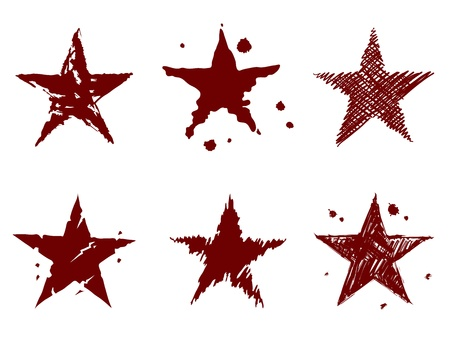 A set of stars Stock Vector - 19312789