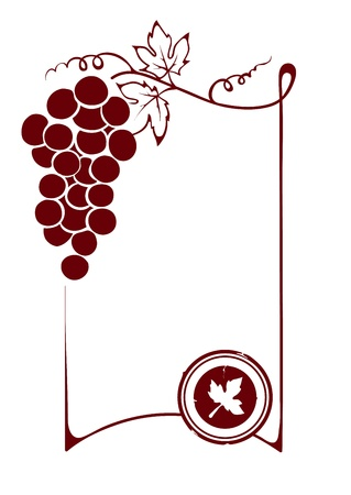 The blank wine label Vector